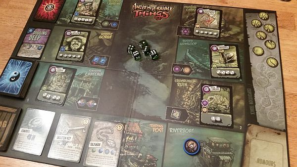A typical setup, only showing one player.