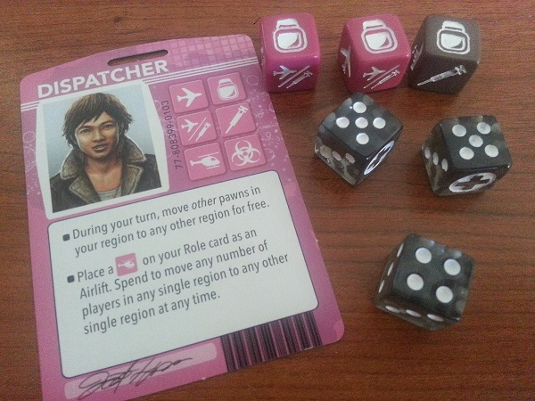 The Dispatcher rolled the samples they collected, and one given to them by another player and rolled more than 13, and has successfully found a cure for the black disease.