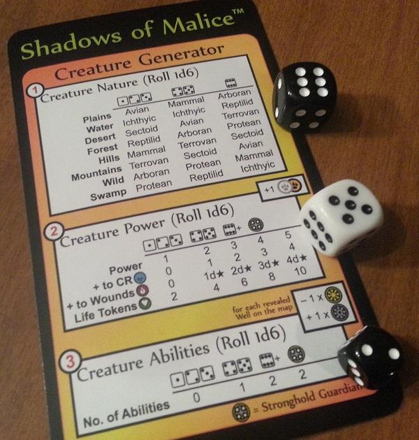 shadows of malice creature generator example