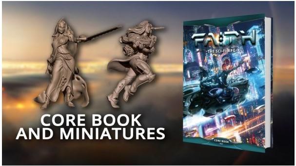 FAITH: Sci-Fi RPG Core Book and Miniatures Now On Kickstarter